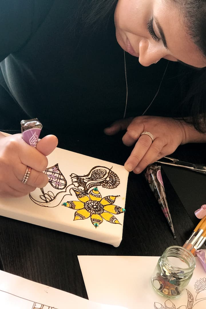 Henna Canvas painting with natural henna
