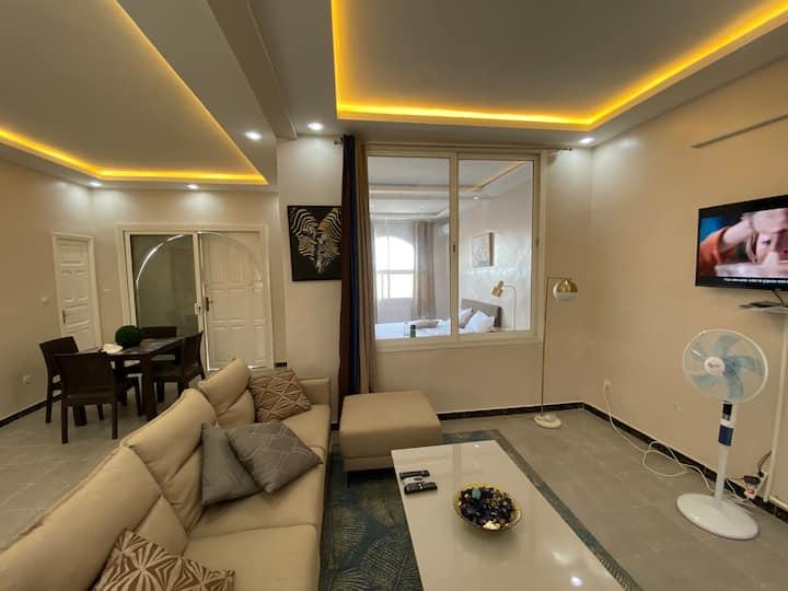 ILYS - Chambre + Salon (Au bord du fleuve)