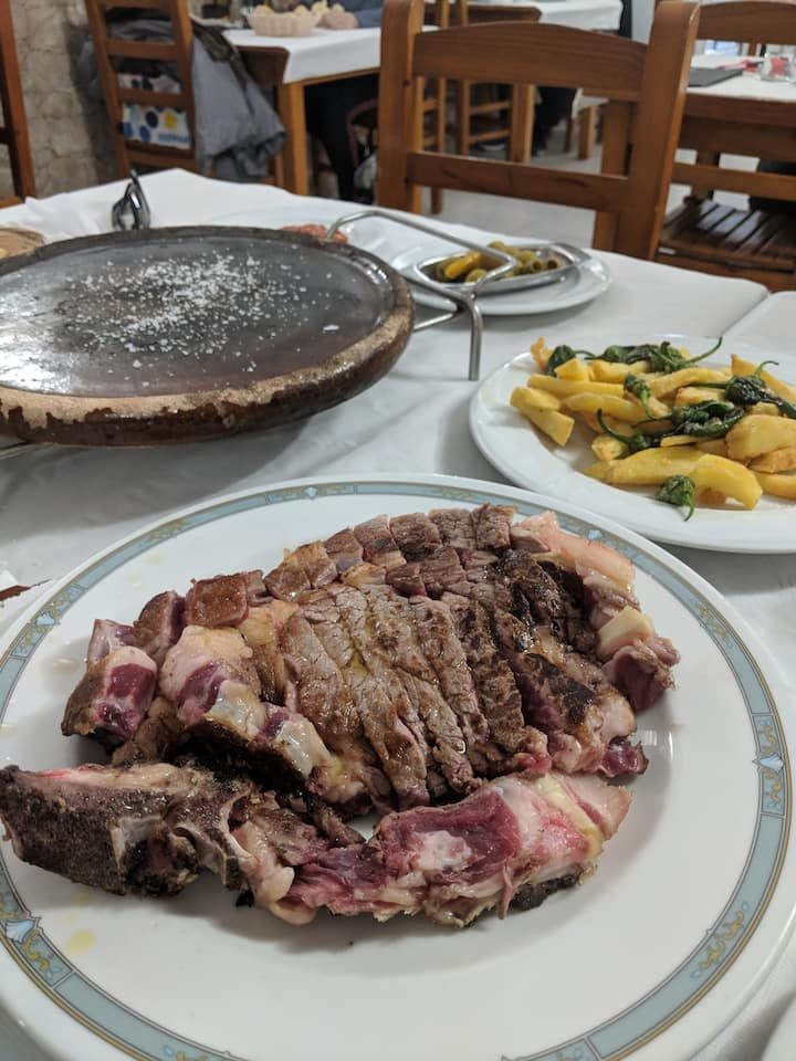 The Spanish way of eating steak