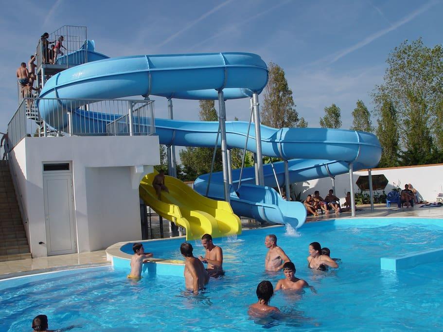 toboggan aquatique de 55 m