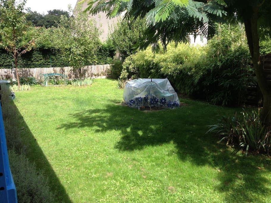 le jardin qui est très agréable