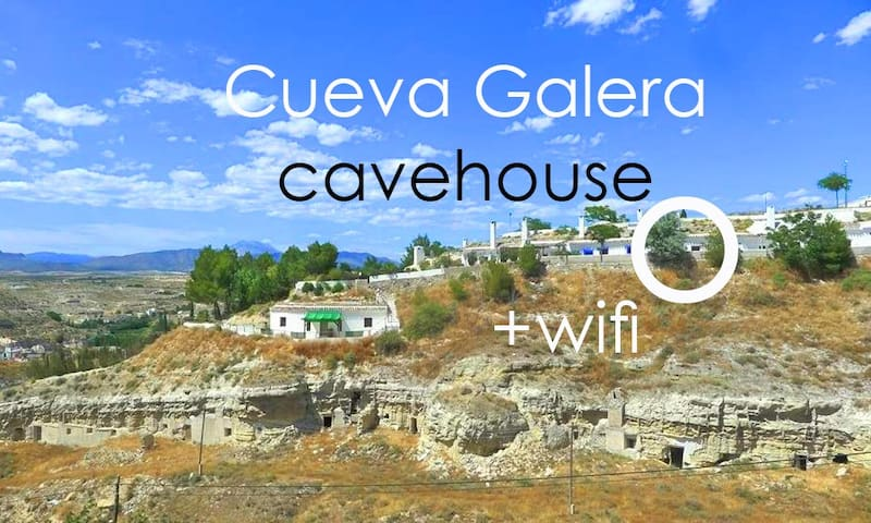 Cueva Galera cavehouse WIFI, views - Galera - Hus