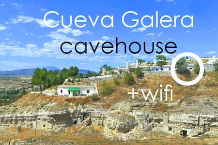 Cueva Galera cavehouse WIFI, views - Galera