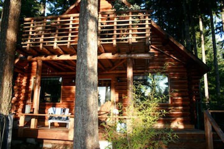 Cozy, Romantic lakefront Log Cabin