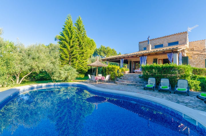 CAN REURE (CAN PARIS) - Villa with private pool in Inca. Free WiFi