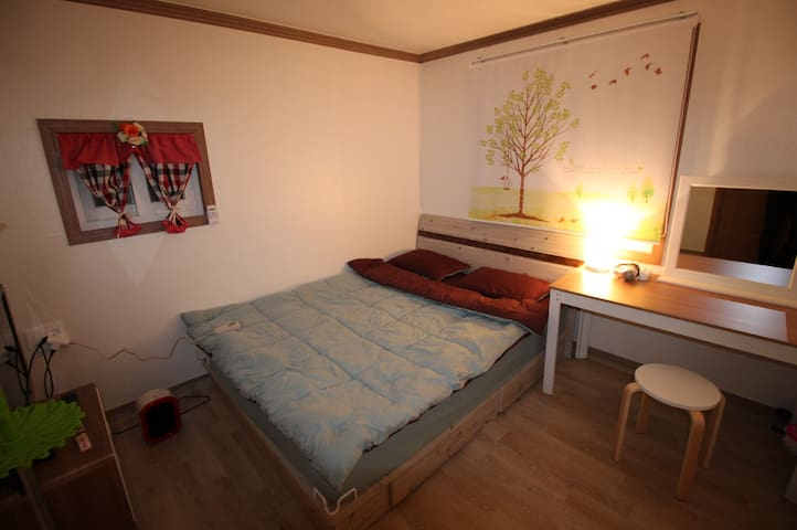 double bed. Room No. 201