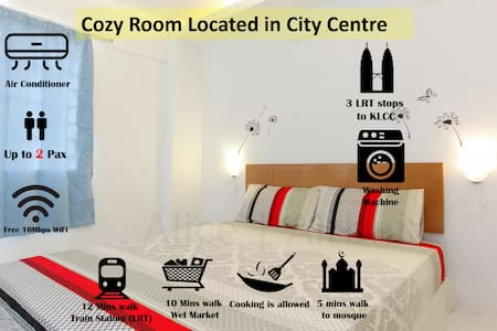 Cozy Room with Comfy Bed Fast WIFI 2-3 Stops KLCC - 吉隆坡