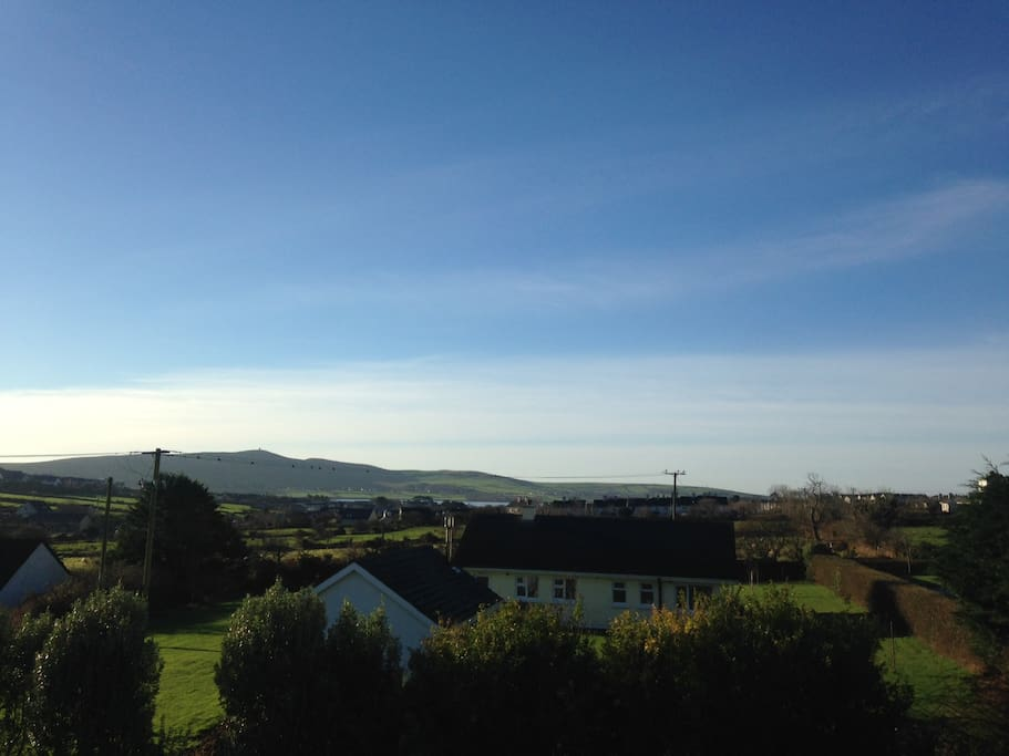 View from upstairs bedrooms of Dingle Harbour