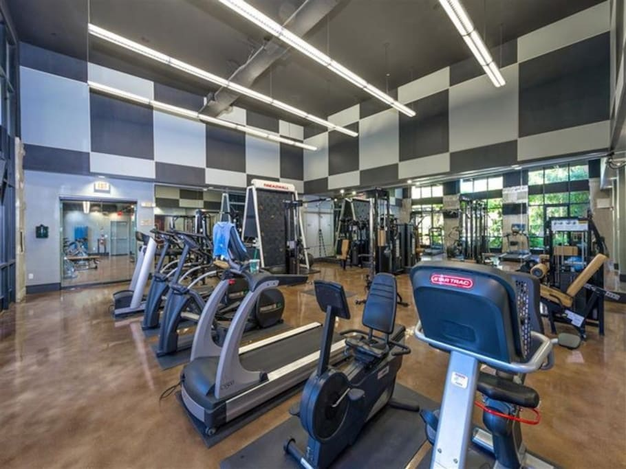 Fully equipped Fitness Center, access anytime while you're here!