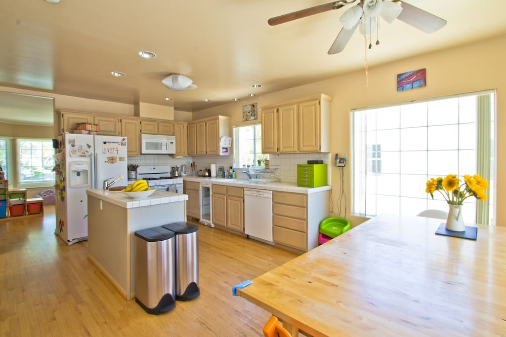 Kitchen with eat-in table for at least 10