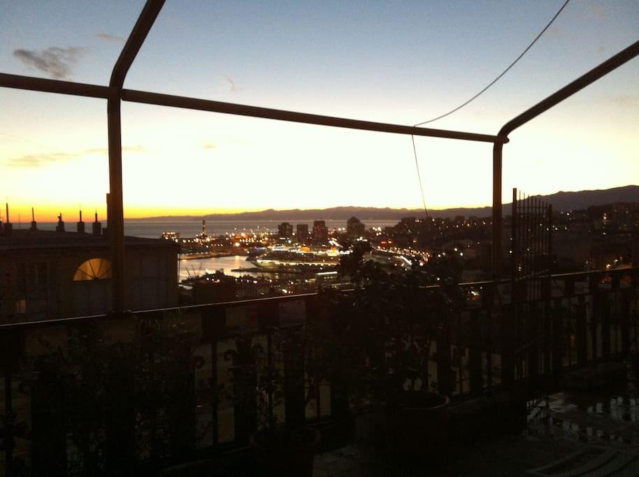 il panorama dal terrazzo