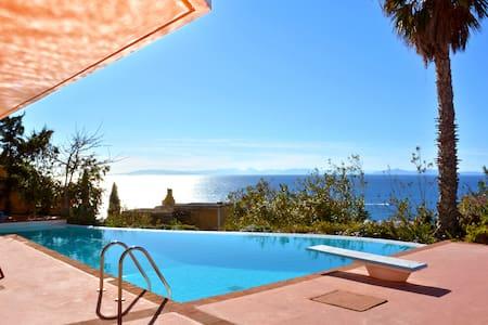 Seaview villa w pool, jacuzzi & bbq - Thimari - Ev