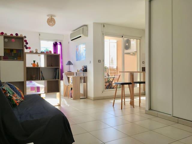 Studio calme et cosy à Saint-Denis - Sainte-Clotilde - Lakás