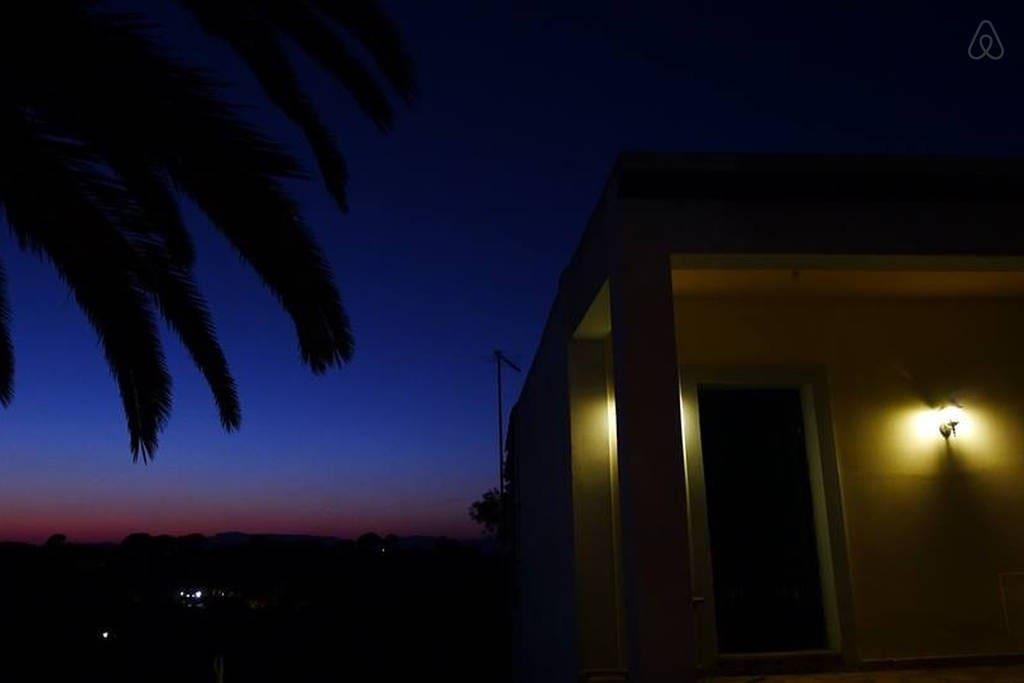 Twilight at Villa Zoe.