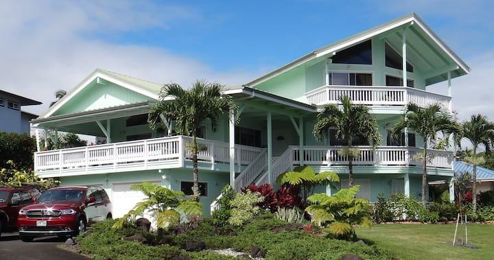 「ゲストハウス・イン・ヒロ」  ヒロ湾が  一望に観える丘の上の一軒家