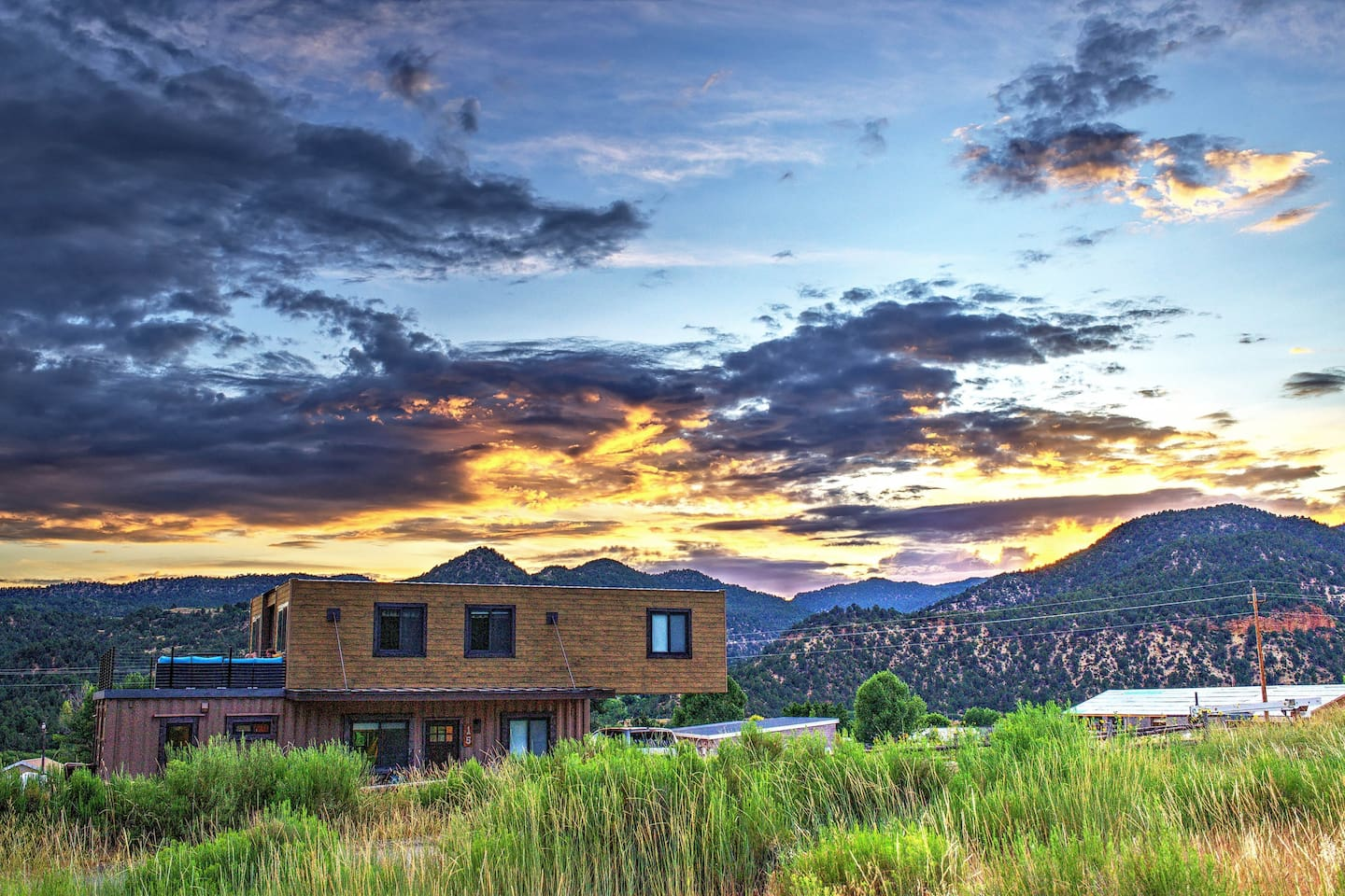 Picturesque sunset at Envase Casa with breathtaking views!