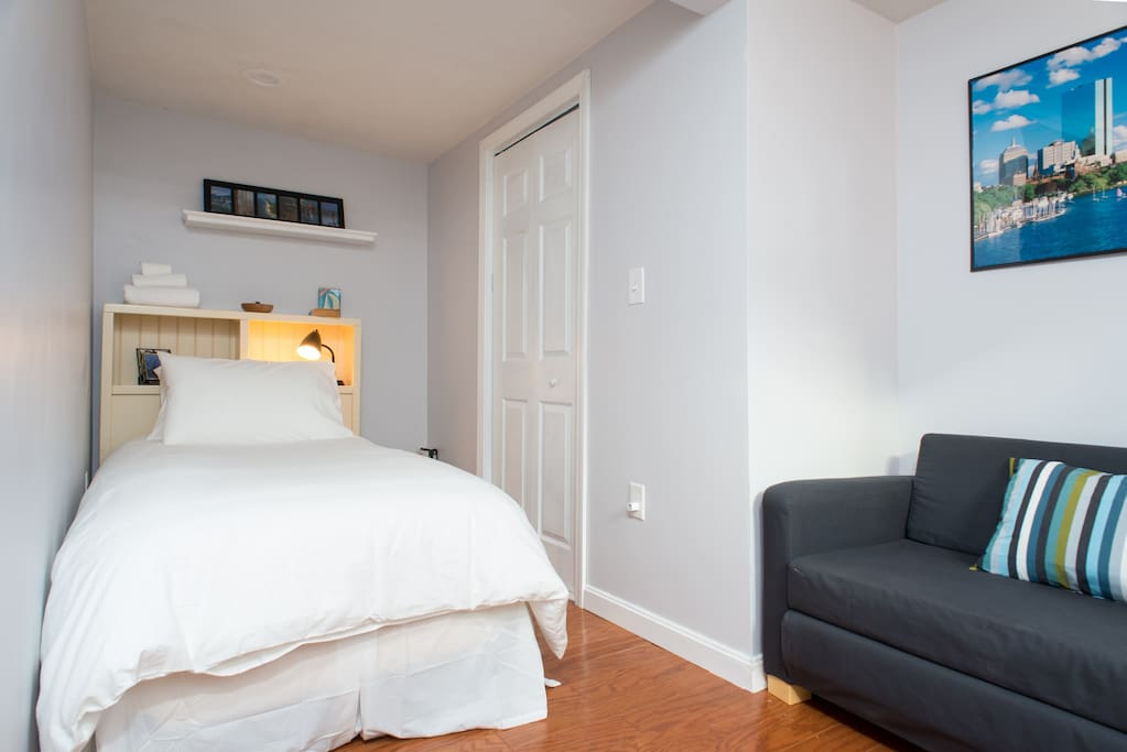 Comfortable queen bed and cable TV located in your room. Built-in closet in the bedroom.