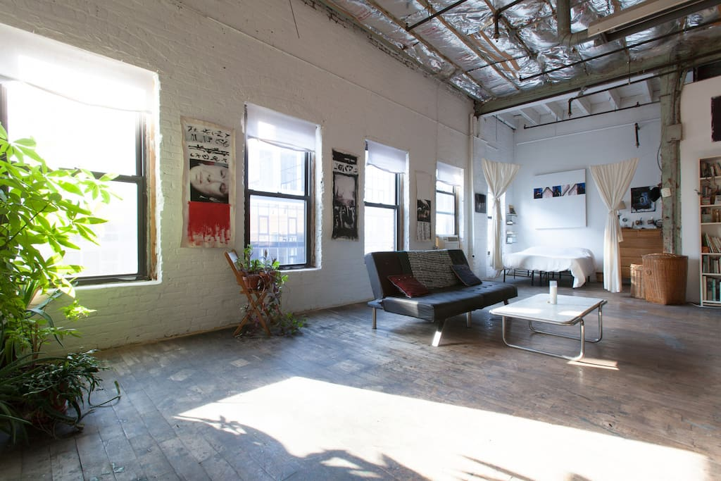 Authentic ny charming artist loft loft in affitto a for Loft in affitto new york
