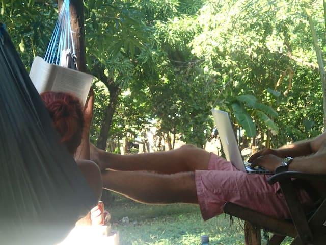 Kick back and enjoy some hammock time