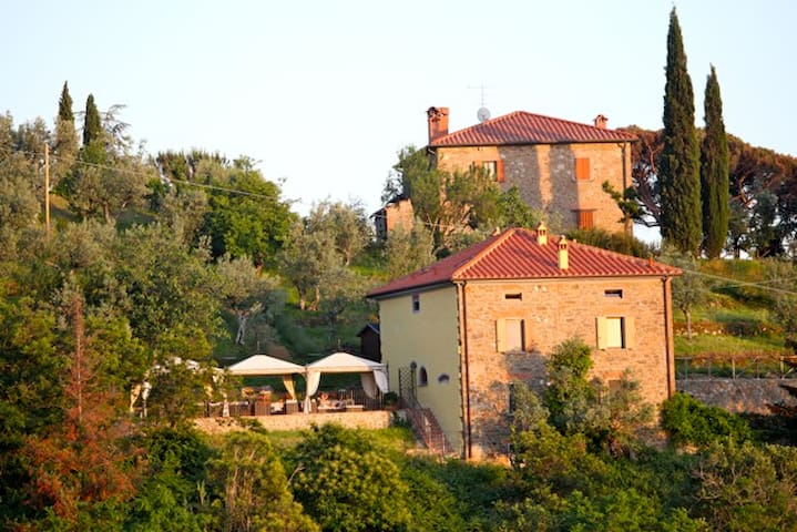 a view from the nearby village