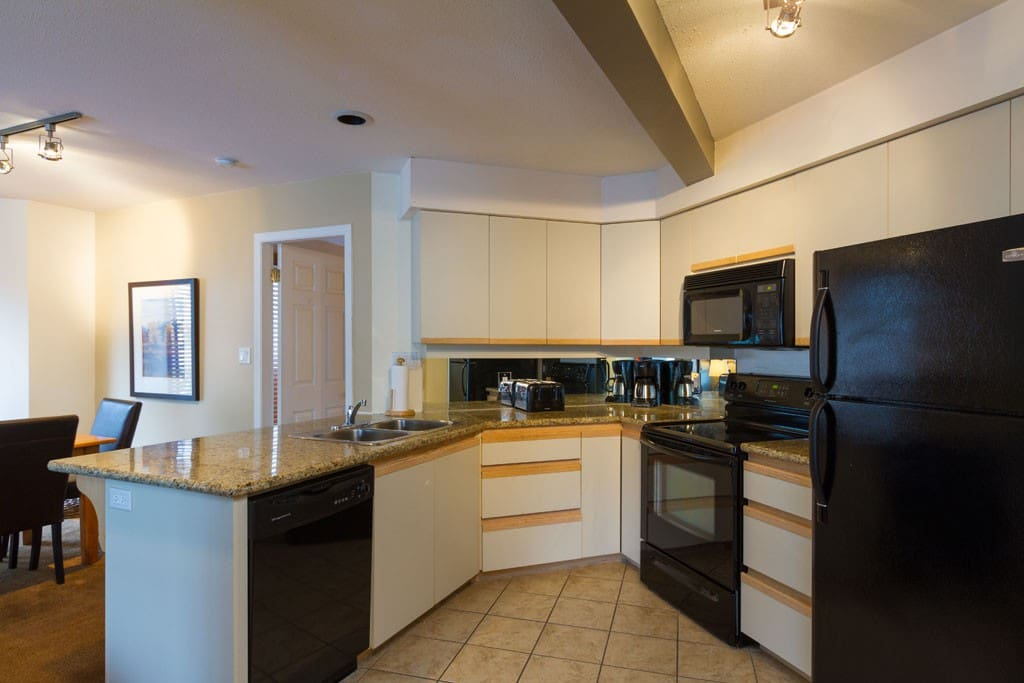 Well appointed kitchen with everything you need to cook up a nice meal