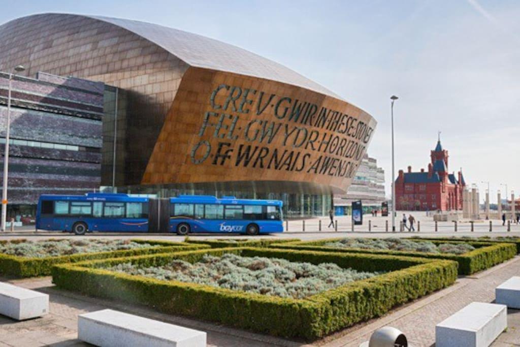 Millennium Centre / Cardiff Bay                            5 minutes walk.