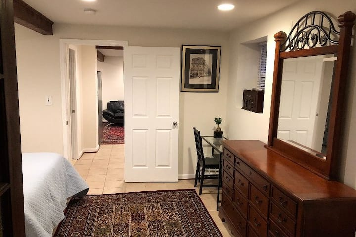 Private Basement Flat with Porch  & Patio!