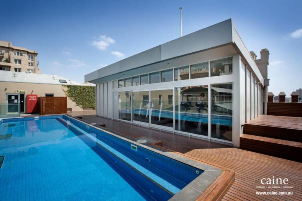 Gym, rooftop heated pool, and sundeck!