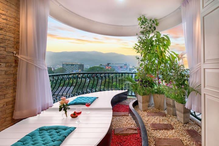 Chiangmai Nimman Garden Apt 清迈宁曼花园山景洋房 ห้องพัเชียงใหม่