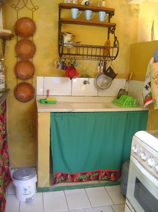 Cozinha coletiva .
