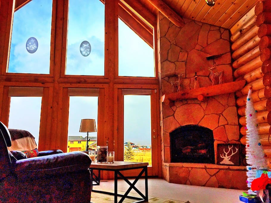 Cozy living room with a view!