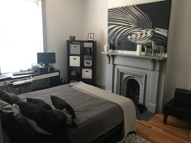 Master Bedroom in 2 Bedroom Apartment.