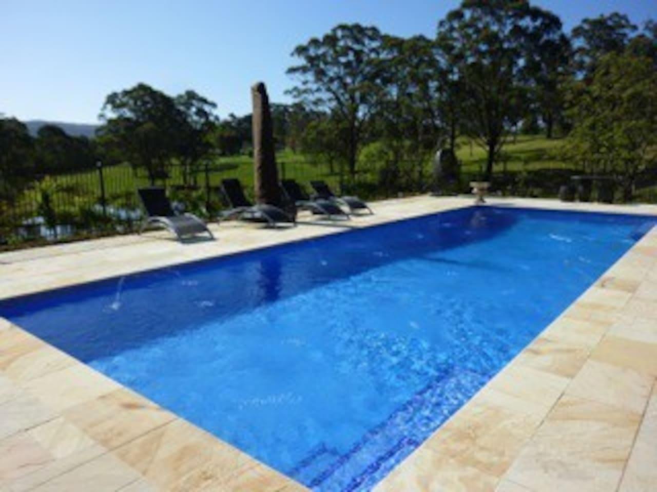 stunning heated pool