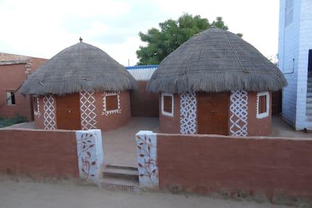 Eco-friendly Homestay near Jodhpur( Two Hut Set) - Salawas