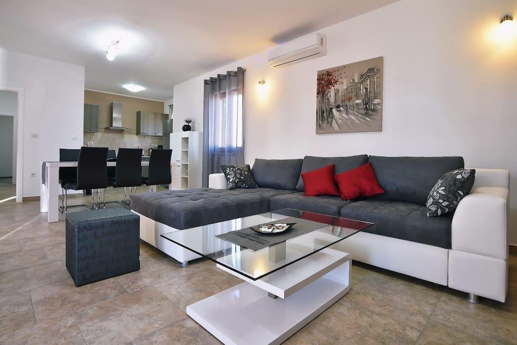 ruhiges anwesen mit pool und 2 h usern f r 12 villen zur miete in barban istarska upanija. Black Bedroom Furniture Sets. Home Design Ideas