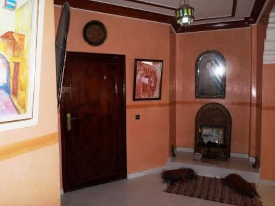Entrance with an antic Berber living-room