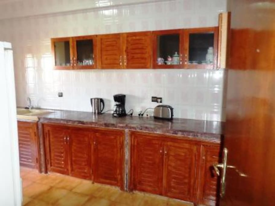 Full equipped huge kitchen with a Balcony