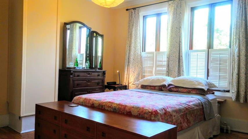 Light-filled bedroom on Westminster Avenue