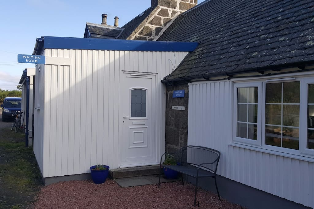 Private entrance to the fully self-contained Waiting Room, with private parking alongside