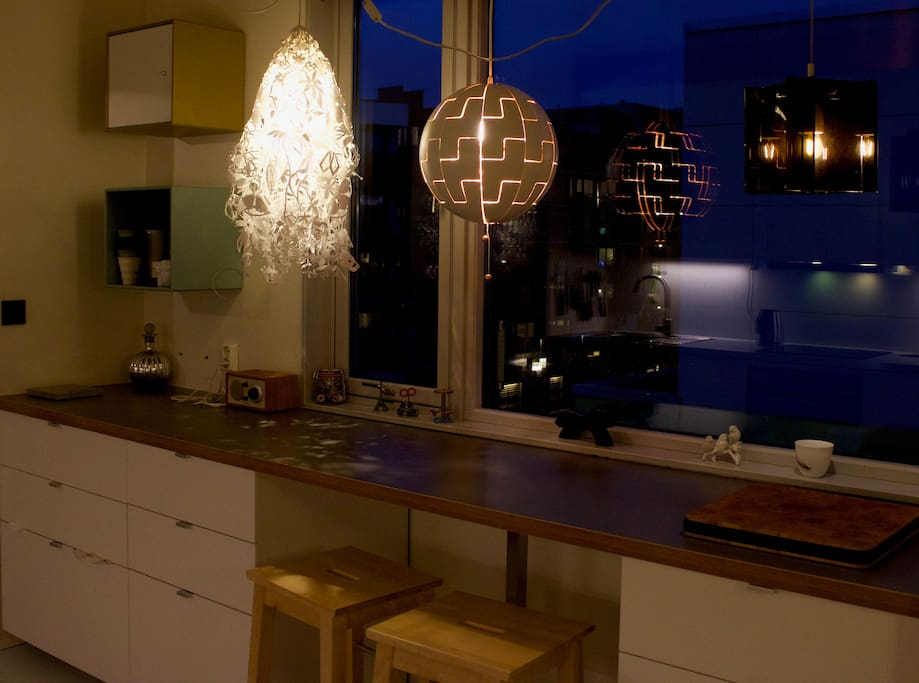 Kitchen, blue light - dark season