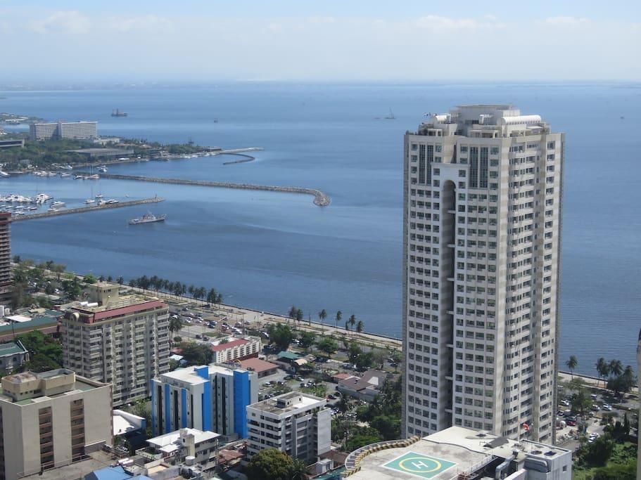 View of Manila Bay from Balcony