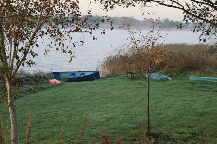 Direct Access to the lakeshore, with fishing boats and canoe's available for hire