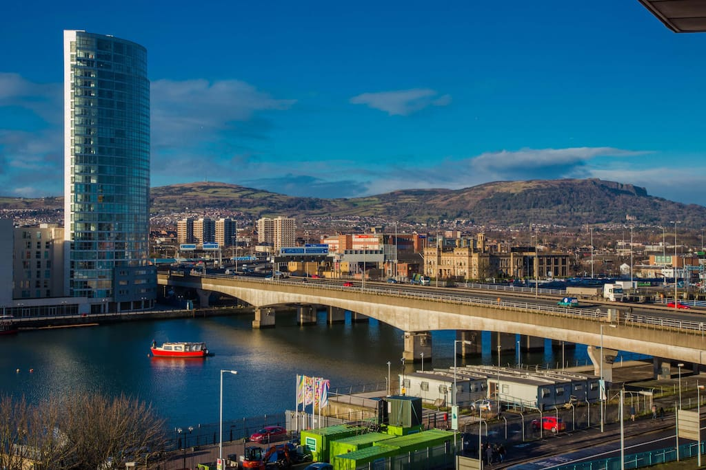 View from balcony over Belfast