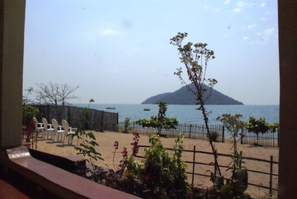 View from the patio of Thumbi Island.