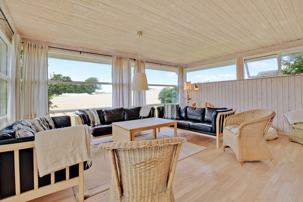 Spacy living room with a view !