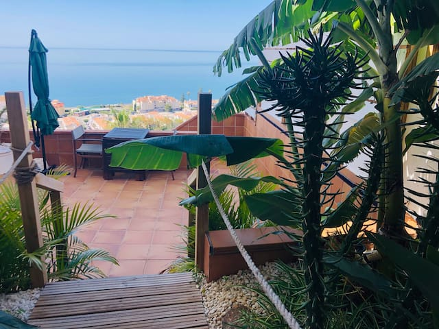 Private Panoramic Sea Views from a Garden Oasis
