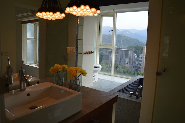 TAIPEI DESIGN APT 01. Taipei 5' MRT Mountain View - Wenshan District - Leilighet