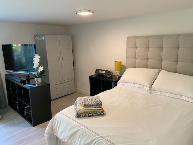 Main bed and wardrobe