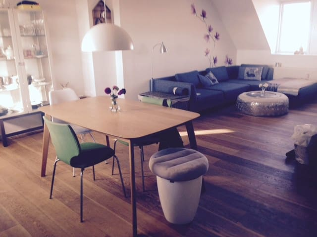 Private room in central penthouse - Copenhague - Appartement