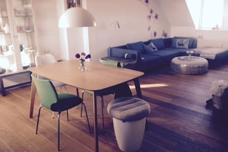 Private room in central penthouse - Copenaghen